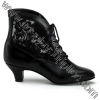 DAME-05 Black Faux Leather